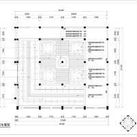 Layout drawing of the top of the exhibition hall
