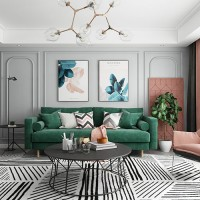 Living room background wall rendering