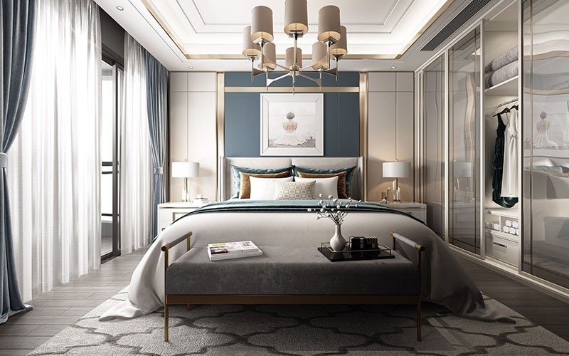 Design sketch of bedroom
