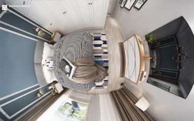 Modern style bedroom 3d rendering