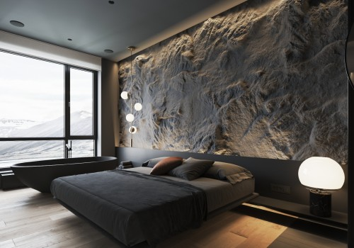 A wonderful bedroom of North Europe, 3d interior design rendering