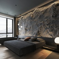 A wonderful bedroom of North Europe, 3d interior design rendering