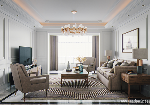 What are the advantages of american style design rendering?