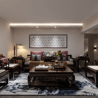 Chinese style living room design renderings