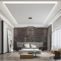 Modern style villa rendering
