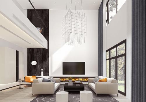 2 modern style interior rendering designing in US
