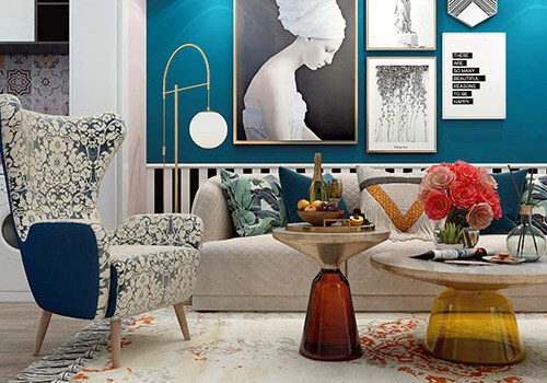 What is the most popular style of 3D interior design?