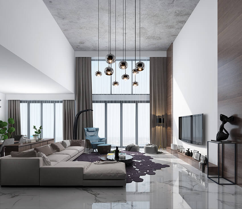 high-quality interior renderings