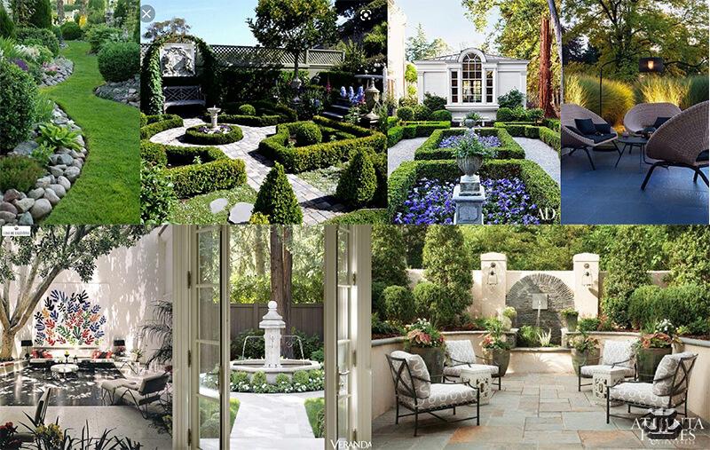 Villa garden landscape